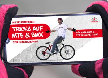 Lehrfilme für Mountainbiker auf Smartphone
